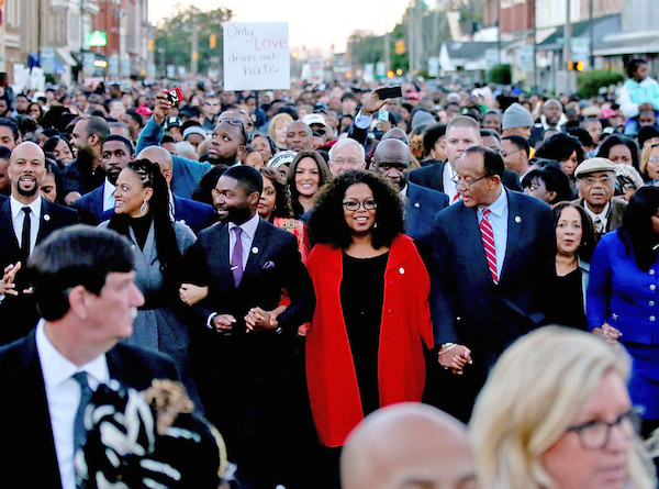 Martin Luther King Holiday Selma Alabama Oprah Others March In