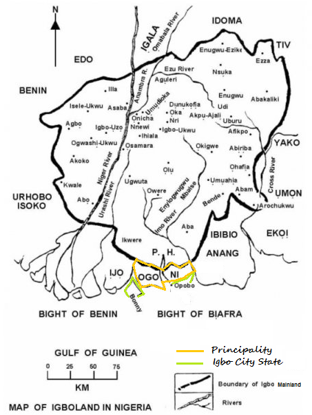 Map of new biafra republicreporters map ccuart Choice Image