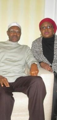 President-Buhari-and-Wife-in-London