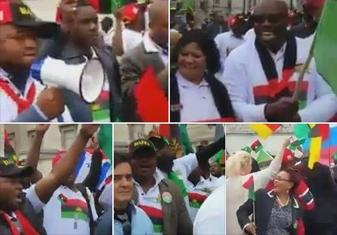 Breaking: Video: Massive Protests By Biafrans, IPOB & Civil-Society Hit Buhari At UNGA In New York