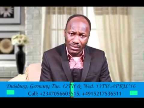 Breaking: Help From Above Germany–Day 1 Evening Session (Apostle Johnson Suleman)–Videos