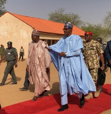 Buhari on redcapet