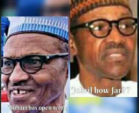 Update: B-o-m-b-s-h-e-l-l: Buhari has open teeth & Jibril Buhari? Jibril Buhari cannot speak Fulani, late Buhari who speaks Fulani died as result of the Brain Surgery he underwent In London in 2017–Lai Mohammed/Nnmadi Kanu